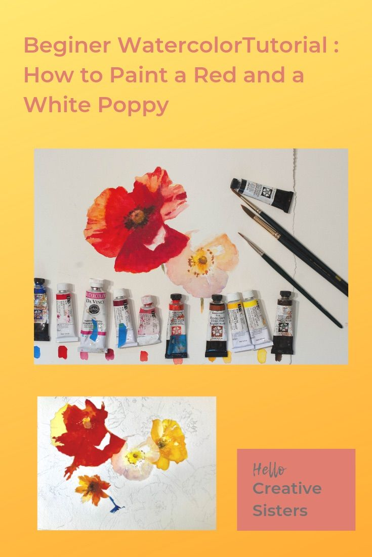 Paint Poppies For Beginning Painters Step By Step With Youtube