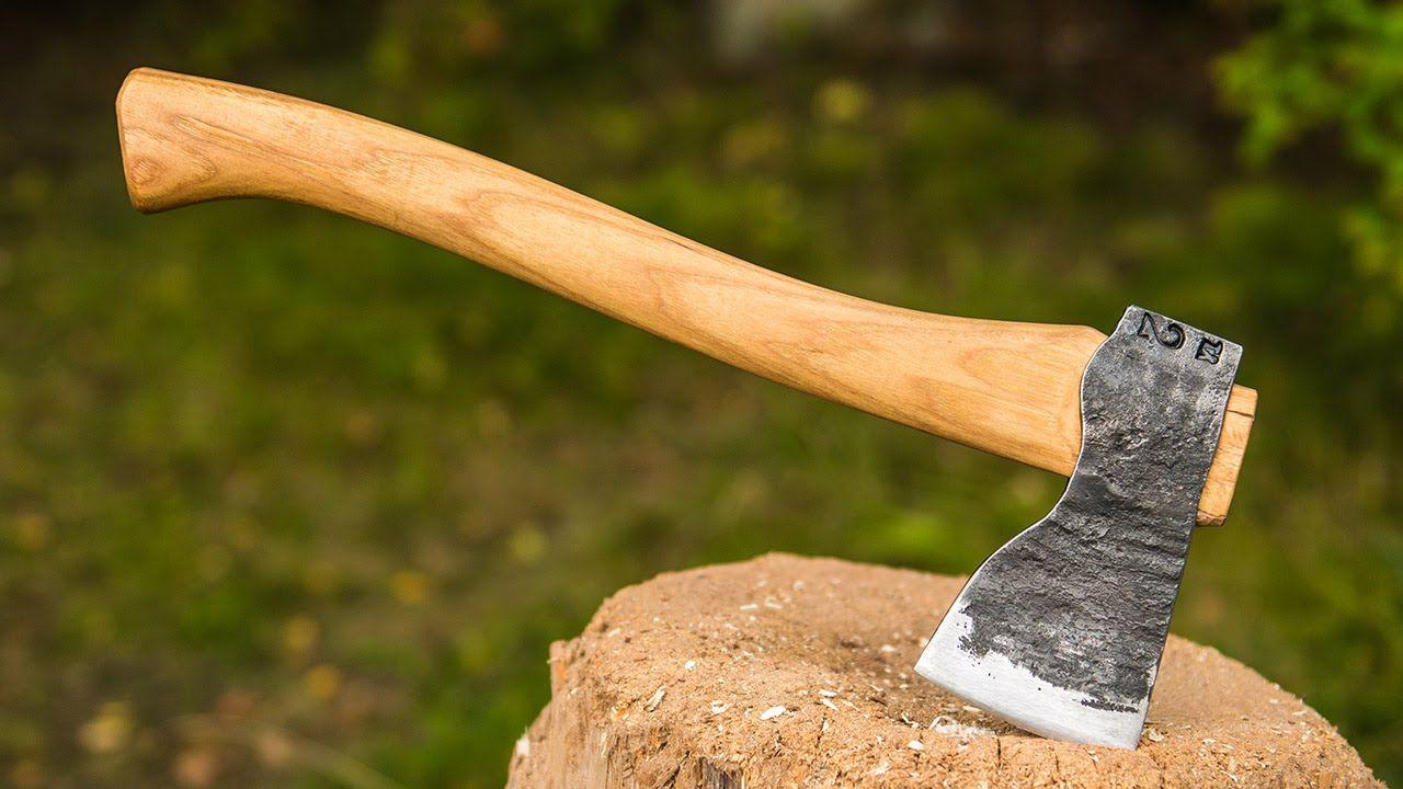 Blacksmithing an axe blacksmithing beginners