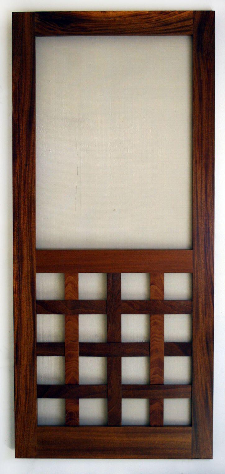 Sweet Interlaced Wood Screen Door & Sweet Interlaced Wood Screen Door | Creative Home Stuff | Pinterest ...