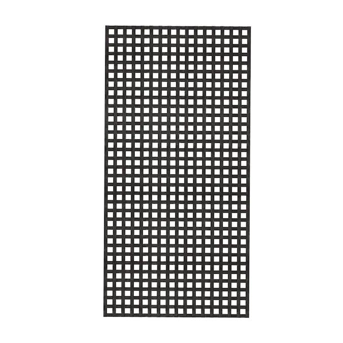 Deckorators Common X 48 In X 8 Ft Actual 0 125 In X 47 5 In X 7 87 Ft Black Plastic Square Lattice In The Lattice Department At Lowes Com