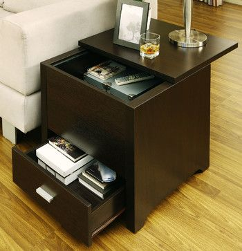 Vosseli End Table In Storage Trunk Style Modern Coffee Tables