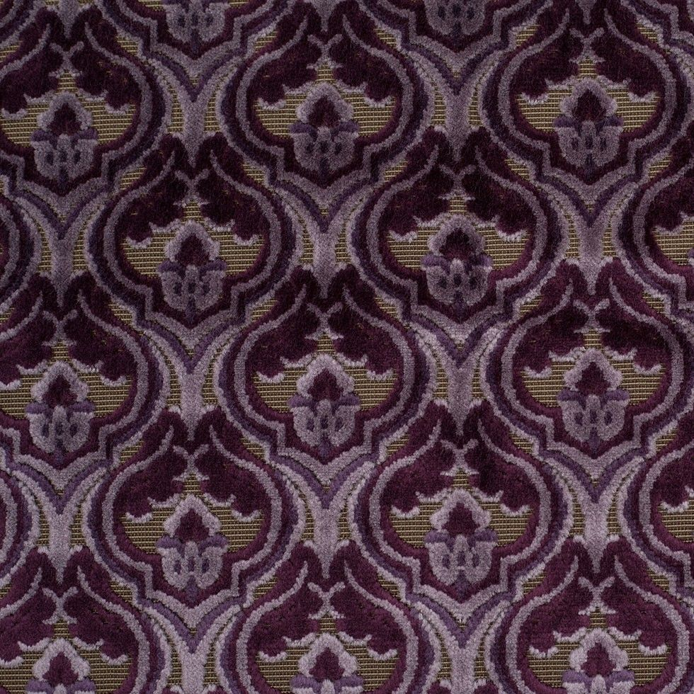 Weave medley light green fabric 6 yards contemporary drapery fabric - Turkish Purple Classical Velvet Fabric By The Yard Mood Fabrics