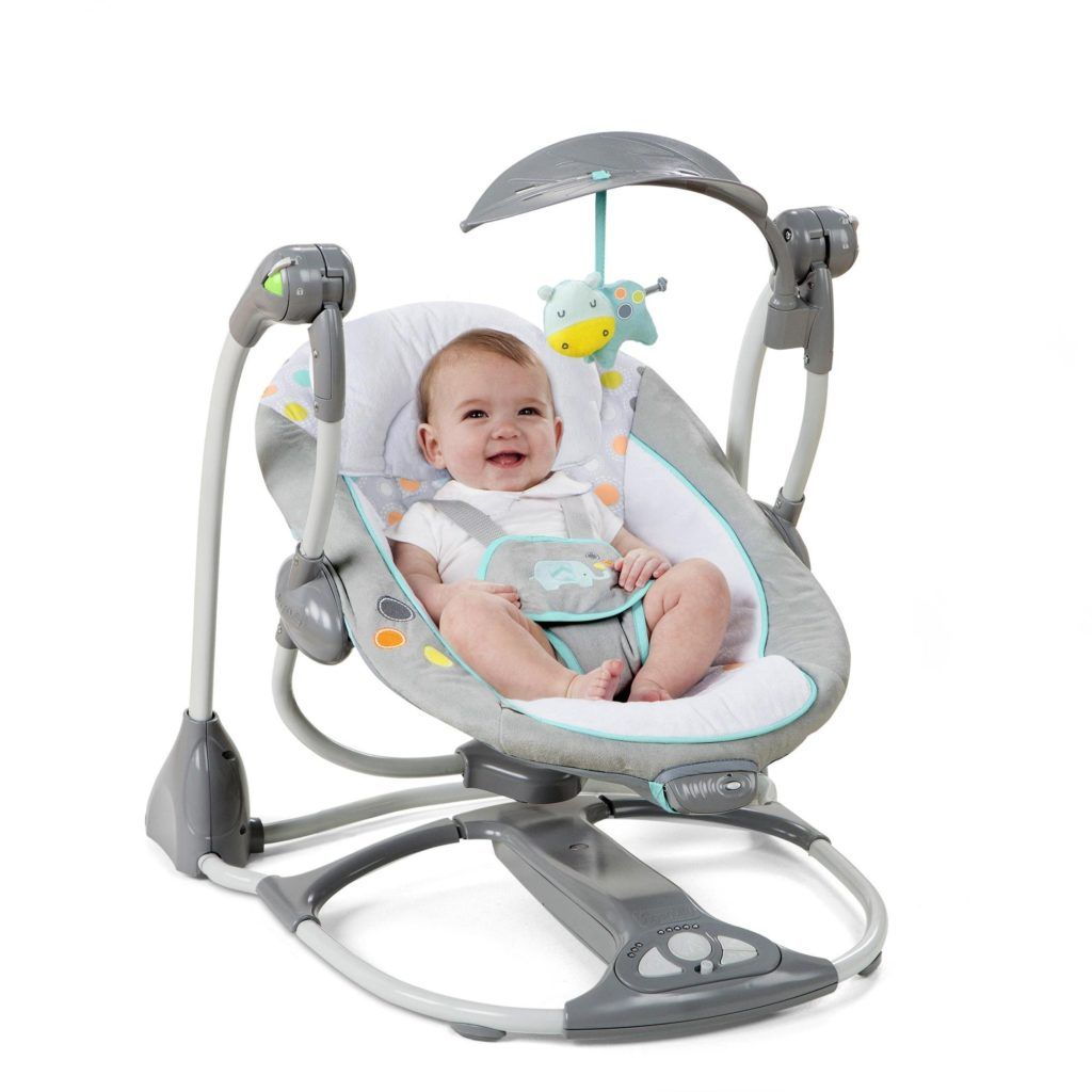 Ingenuity ConvertMe Swing-2-Seat Portable Candler Baby Vibrating Seat Plush Toy