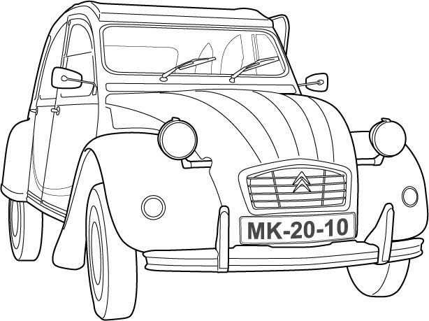 Cool Drawing 2cv