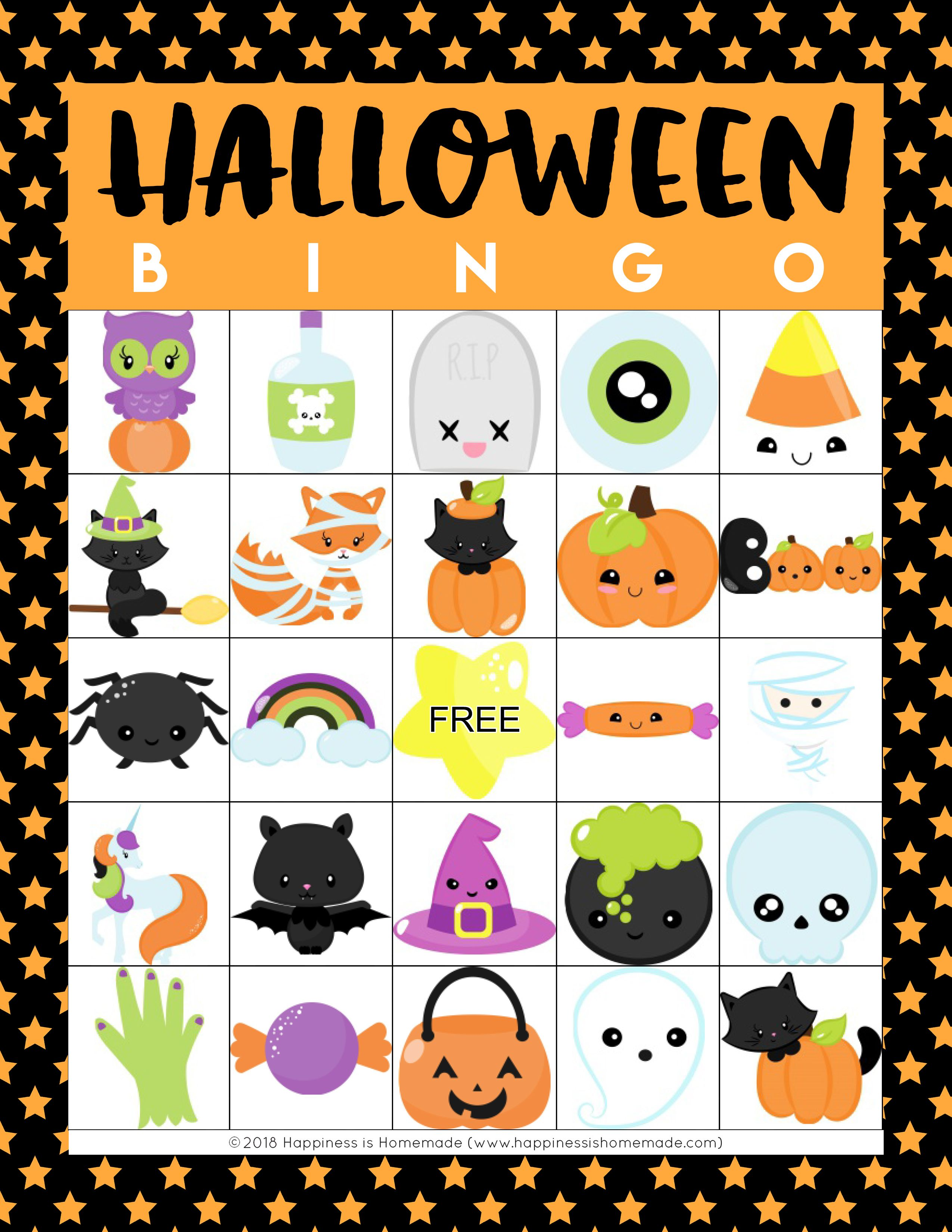 free printable halloween bingo for kids