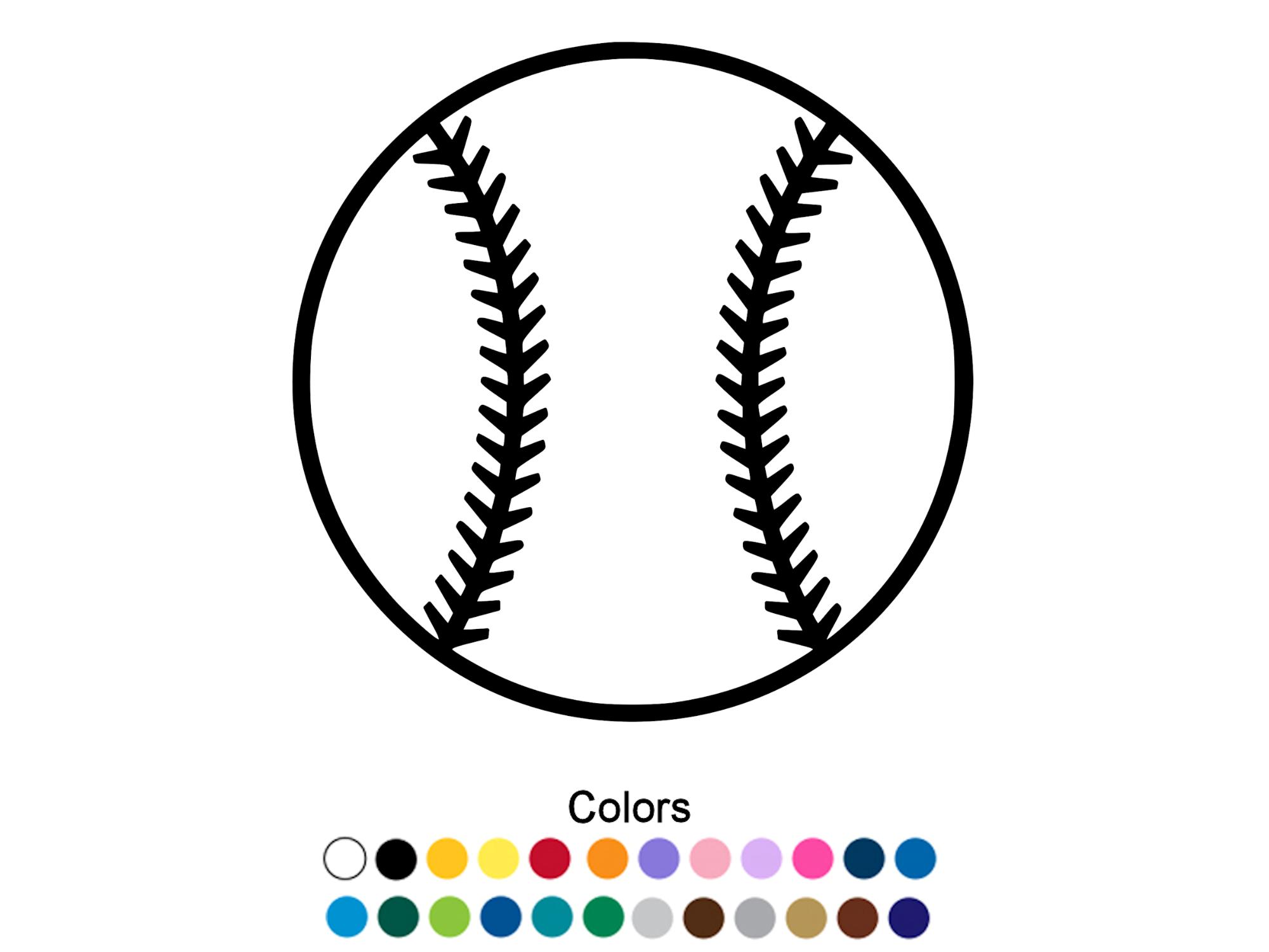 Baseball Outline Car Decal For Baseball Fans Baseball Decals Baseball Sticker Custom Stickers