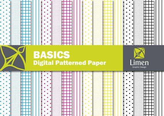Cmyk Basic Patterns White Edition Polka Dot Graph Striped