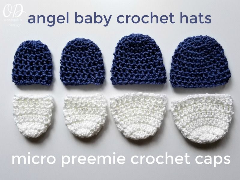 Micro Preemie Crochet Caps | crochet crowns for still born | Pinterest