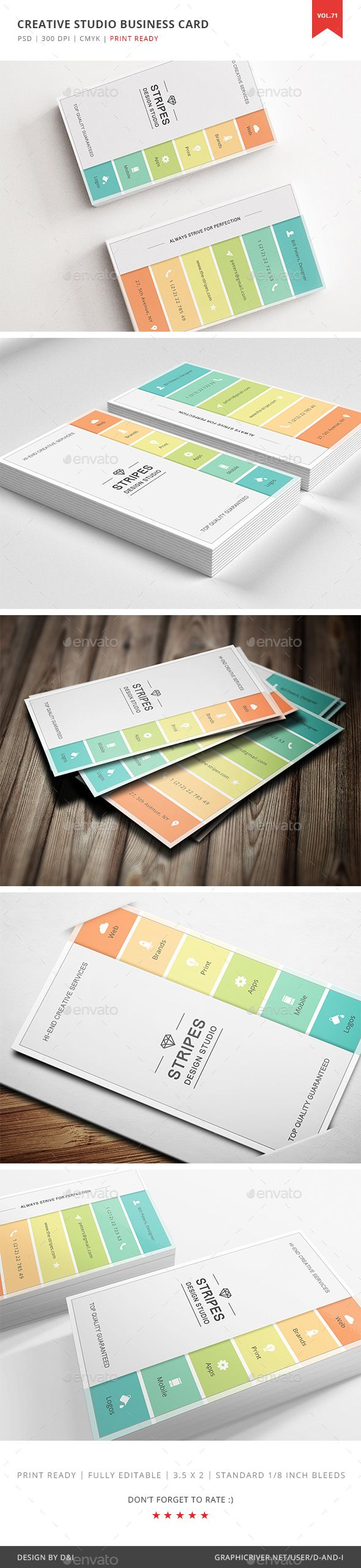 Creative Studio Business Card Template PSD. Download here: https://graphicriver.net/item/creative-studio-business-card-vol-72/17491983?ref=ksioks