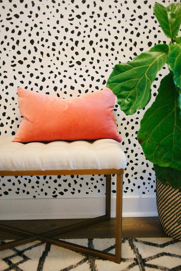 le papier peint noir et blanc est toujours un singe d 39 l gance design d int rieur pinterest. Black Bedroom Furniture Sets. Home Design Ideas