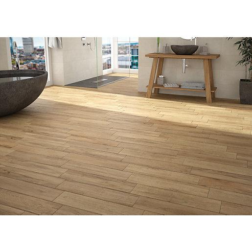 Wickes Mercia Oak Wood Effect Wall & Floor Tile 600 x
