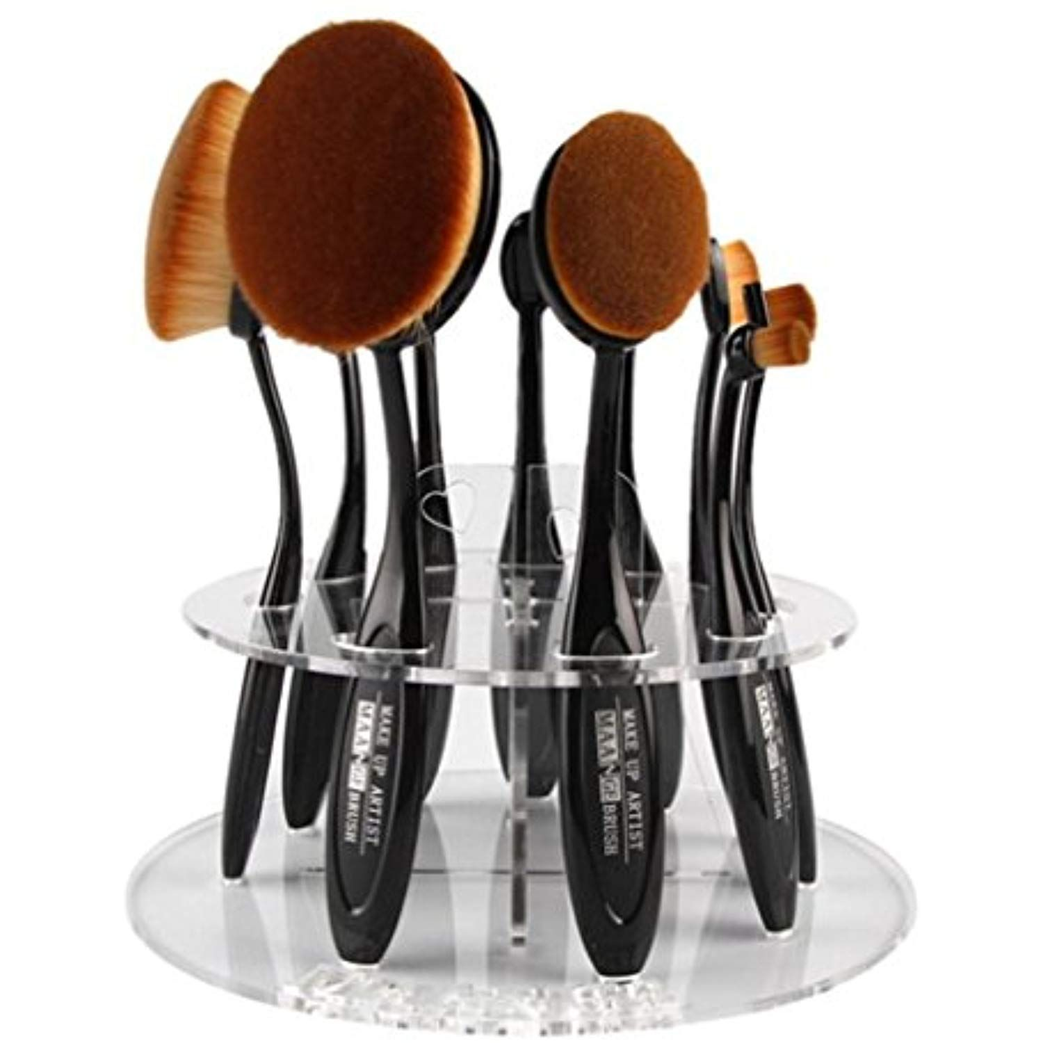 Sinwo 10 Hole Oval Makeup Brush Holder (without 10 brushes