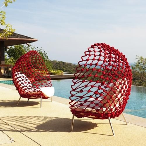 cocoon outdoor chair...Oh my word!!! I will never be able to afford these but they are sooo BEAUTIFUL!!!