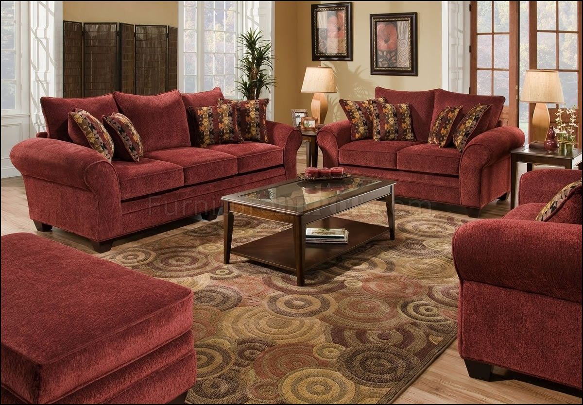 Living Room Color Schemes Burgundy Couch Best Photo Frames For Throw Pillows Sofa Rooms Colors