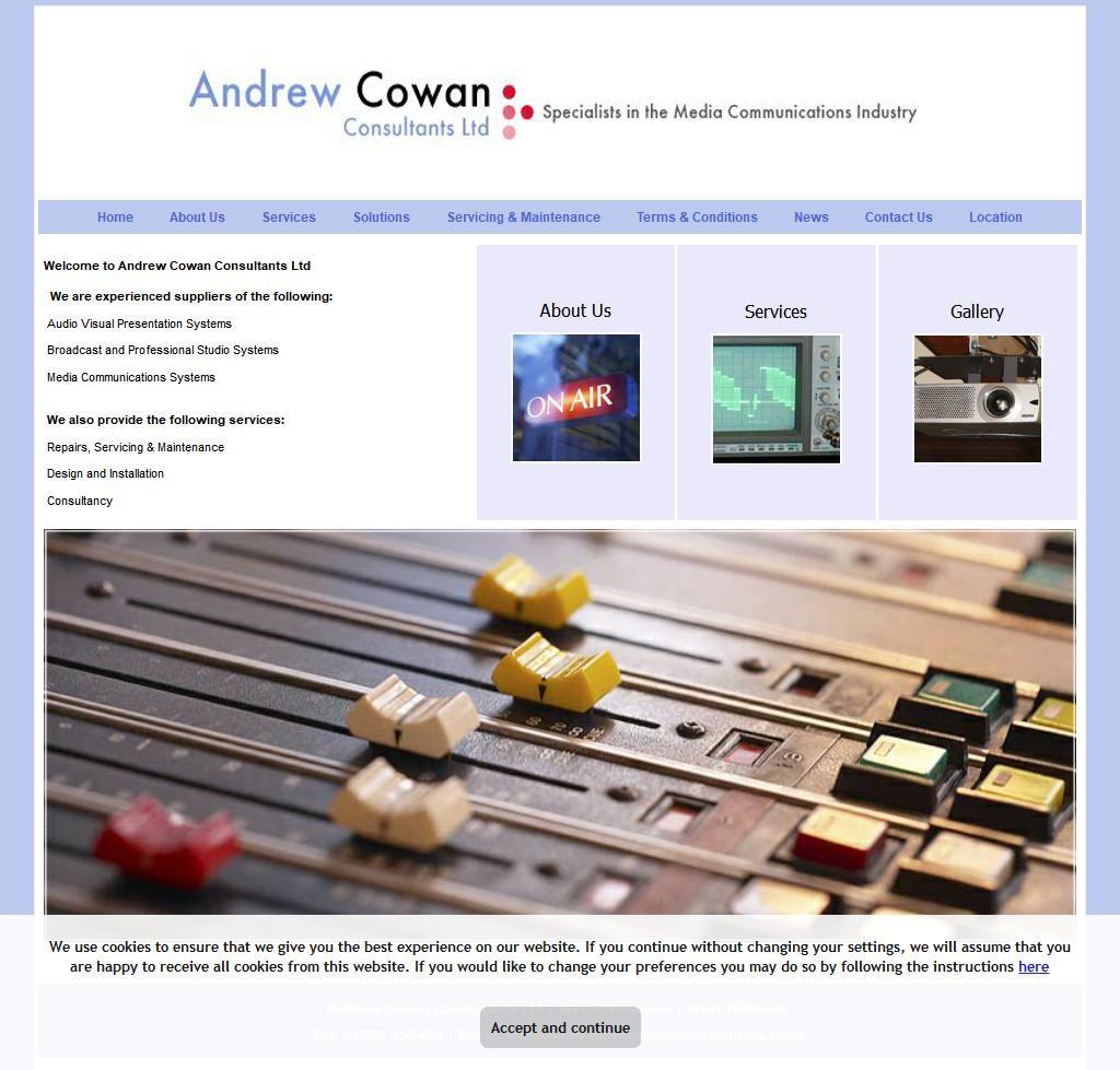Andrew Cowan Consultants Audio Visual Equipment & Services