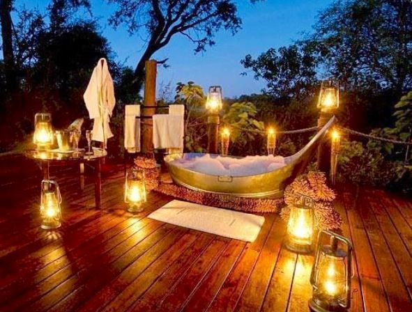 Romantic (With images)   Outdoor bathtub, Outdoor, Outdoor tub