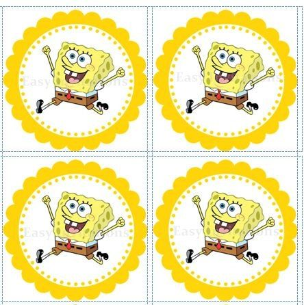 Custom Order For Sukhi Printable Digital File Spongebob Birthday Spongebob Party Spongebob Cupcakes Toppers