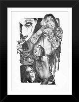 22.5x17.5 FRAMED Sketch Poster Print Marilyn Manson