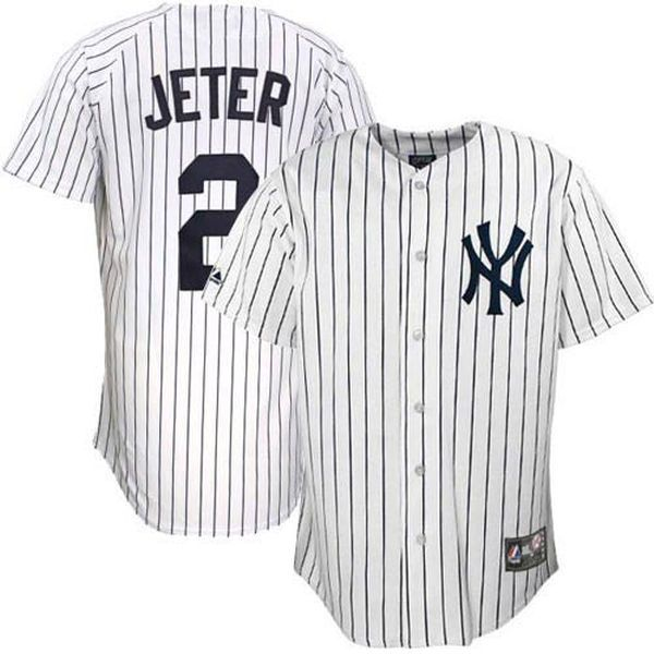 86d601a96 Majestic Derek Jeter New York Yankees Big Sizes Replica Baseball Jersey -  White