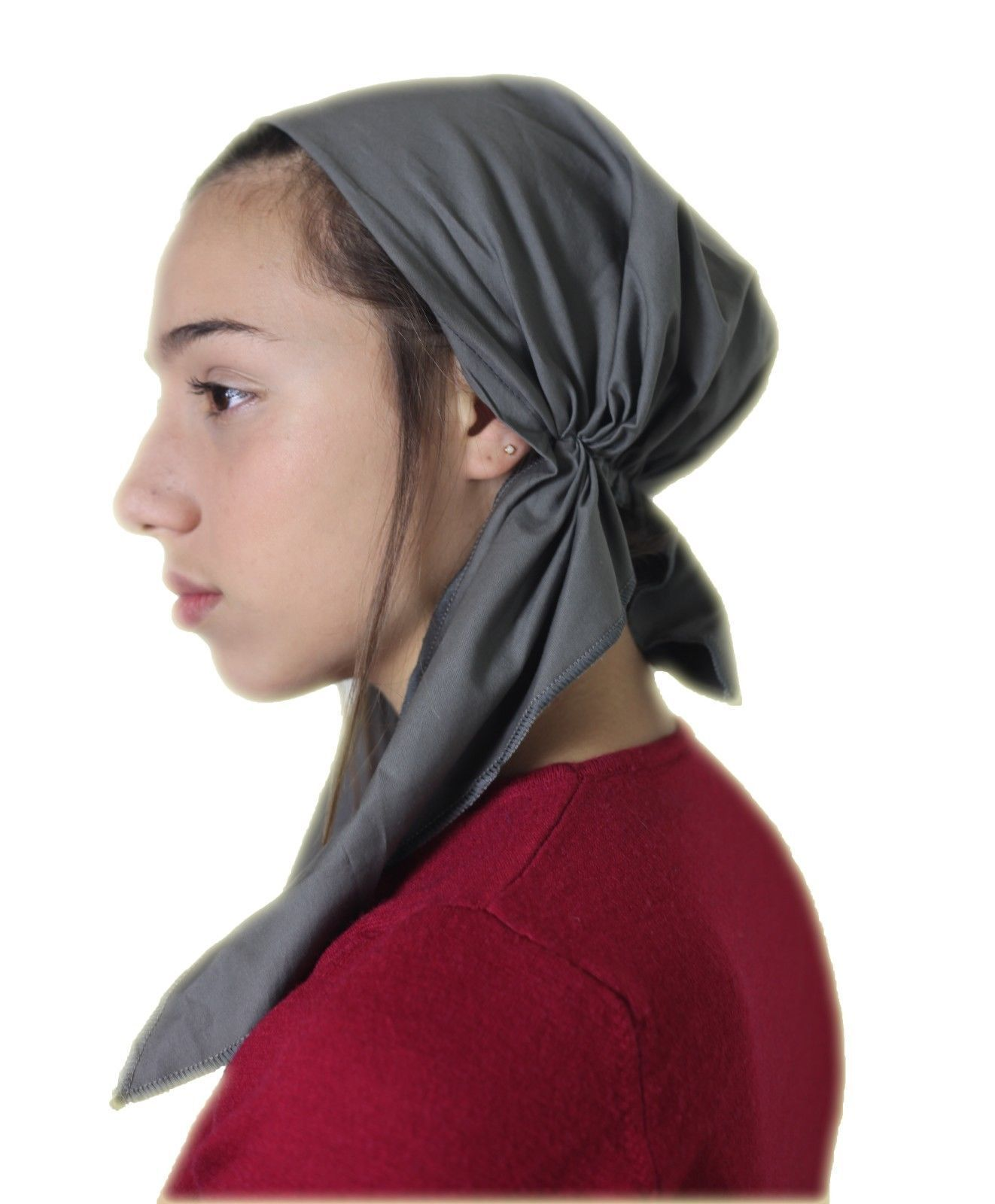 Tichel Scarves Head Wrap Hair Covering Jewish Headcovering Bandana Red Holy New