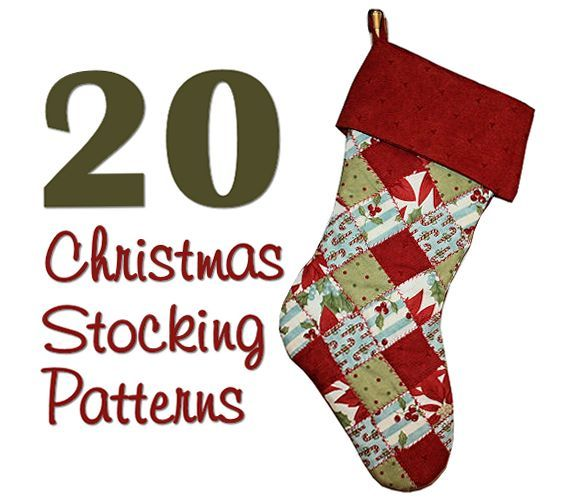 Christmas Stocking Patterns Inspiring Sewing Pinterest Custom Quilted Christmas Stocking Pattern