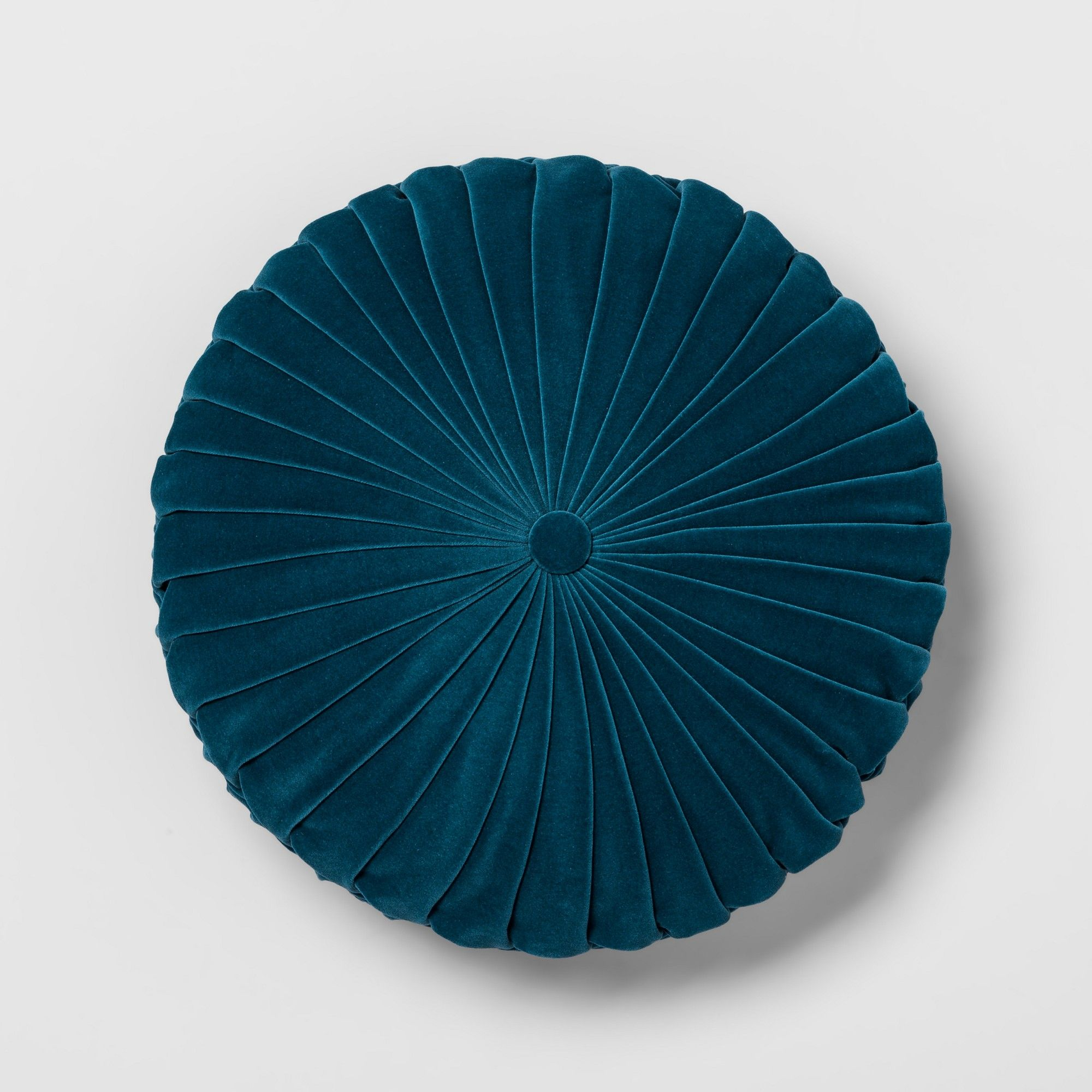 Fabulous Teal Pleated Velvet Round Throw Pillow Opalhouse Blue In Gamerscity Chair Design For Home Gamerscityorg