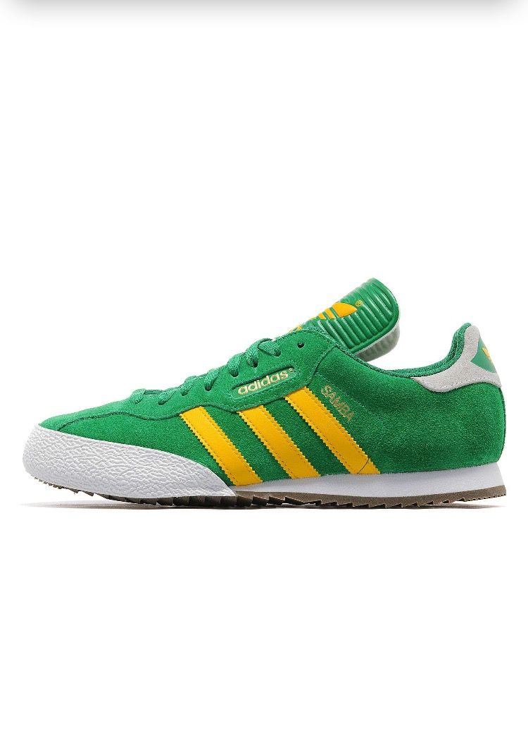 adidas Originals Samba Super: GreyYellow   Tenis