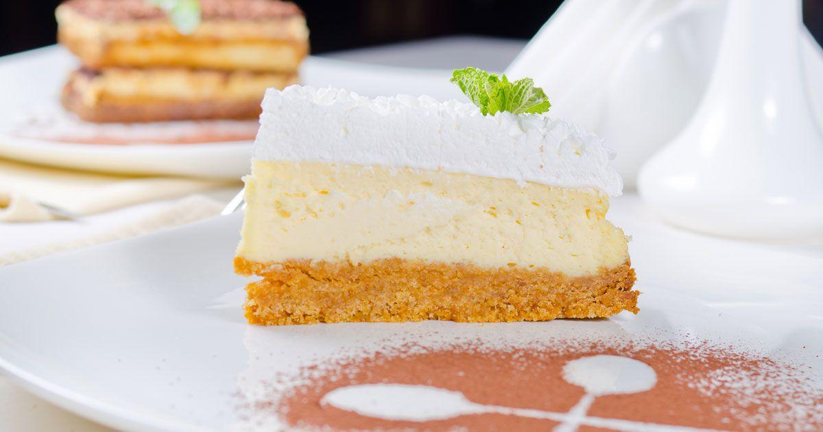 حلى بسكوت اللوتس Desserts Cheesecake Vanilla Cake