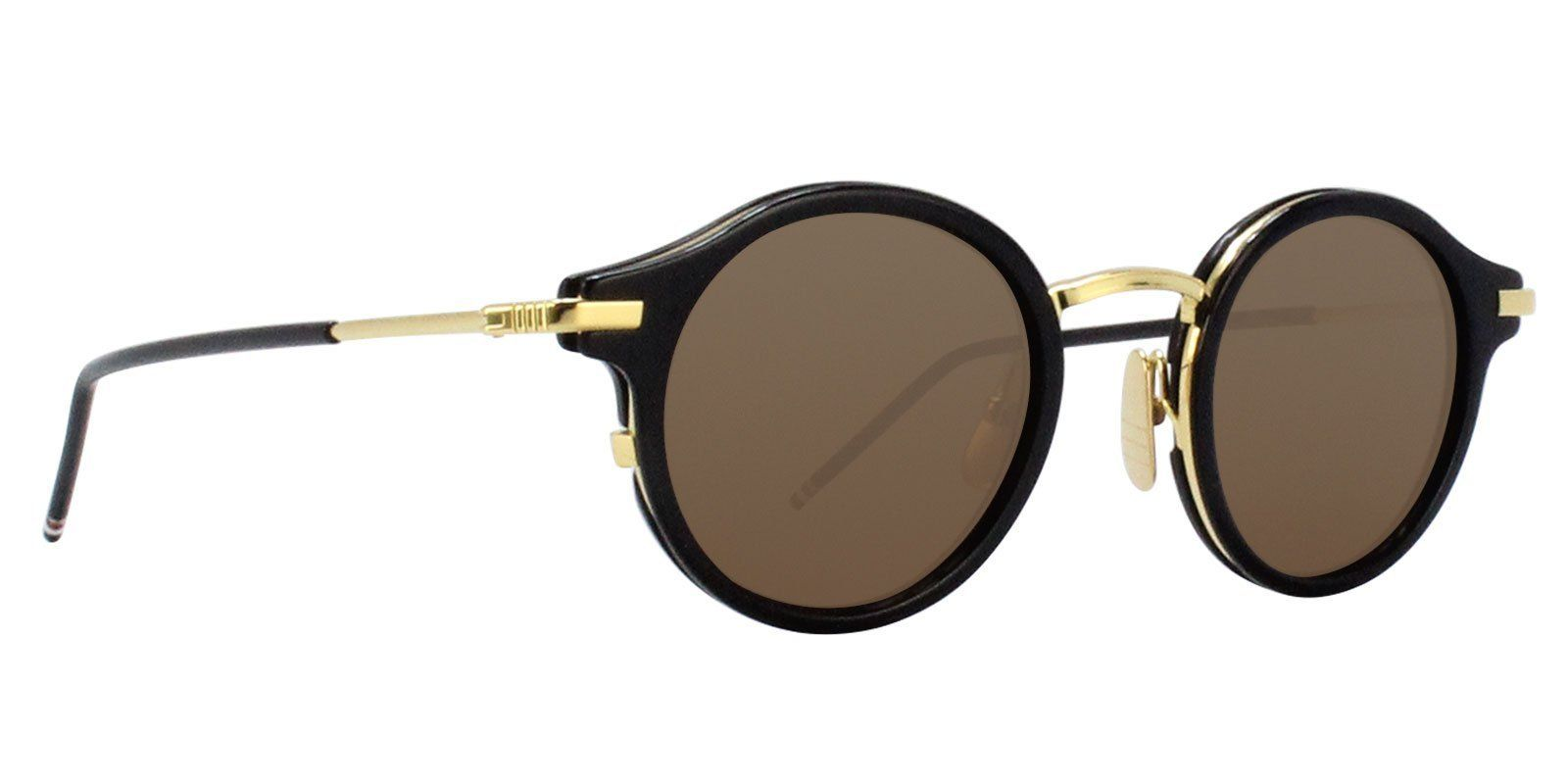 48834fa732f Thom Browne - TB-807 Navy - Dark Brown-sunglasses-Designer Eyes ...