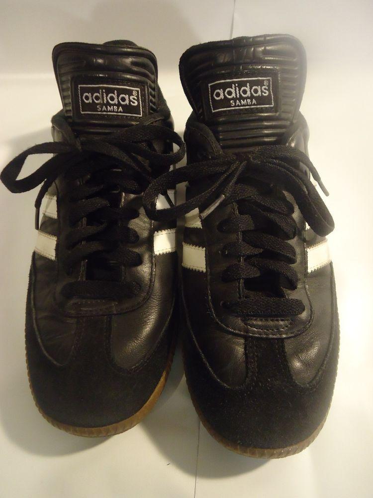 08b7df00e67 VINTAGE Black Adidas Samba Classics Men s Indoor Soccer Shoes size 7 SHIPS  FREE  Adidas  Walking