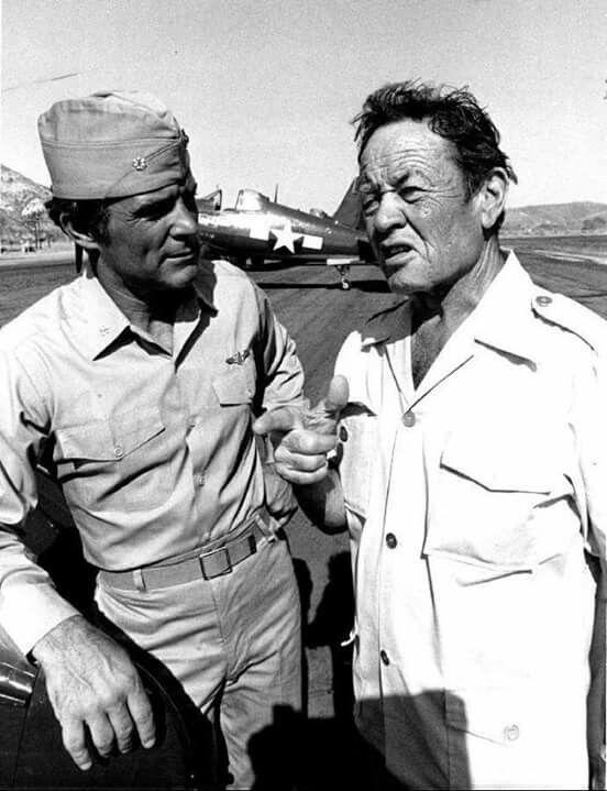 Robert Conrad & Pappy Boyington