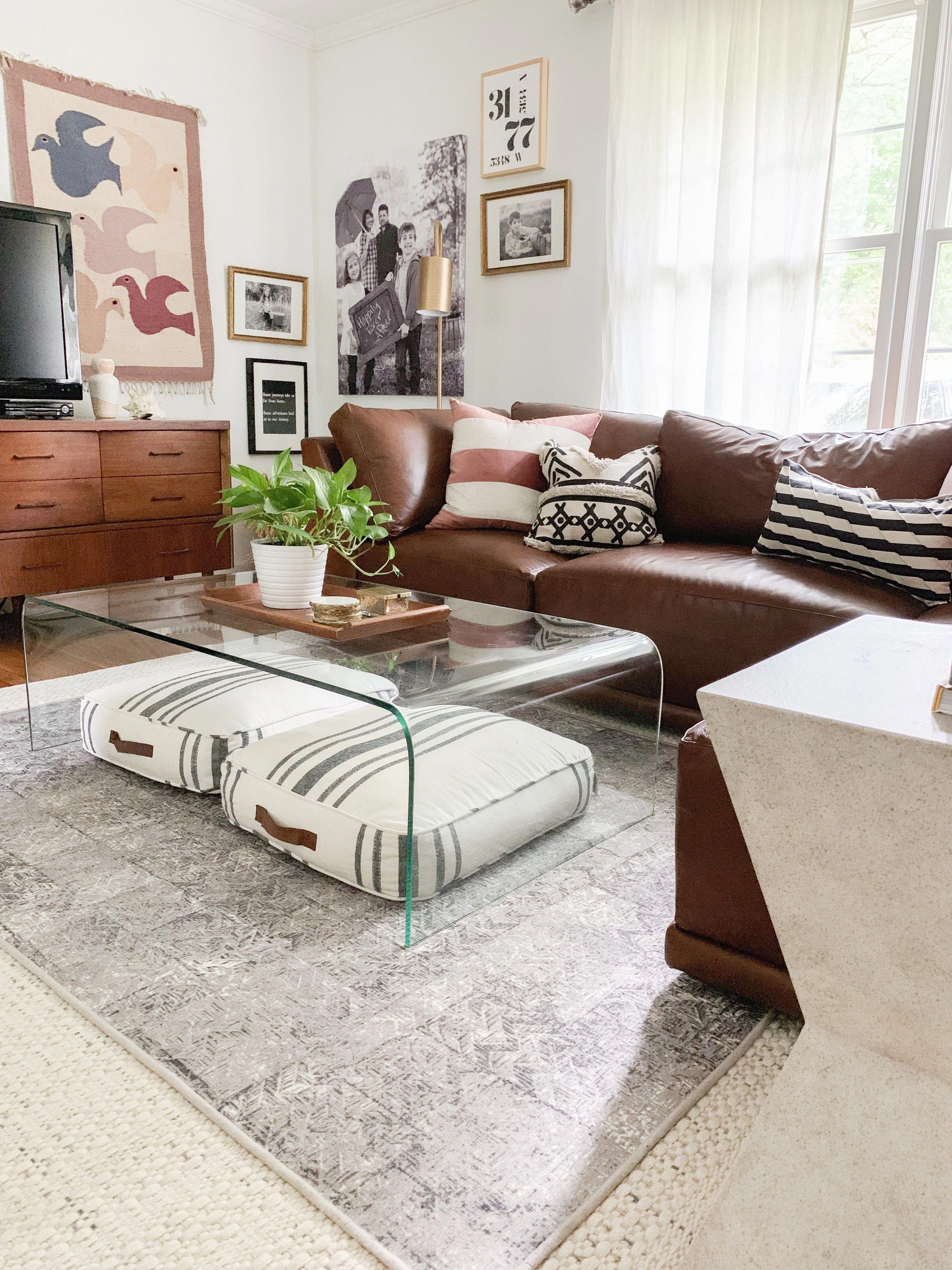 Eclectic Vintage Modern Living Room with thrifted finds ...