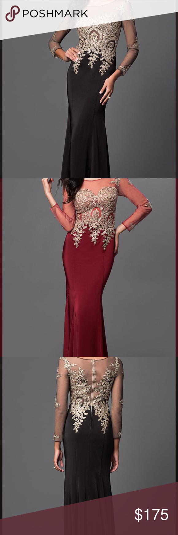 Long body slim prom dress my posh picks pinterest dark red