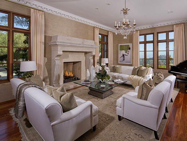 Heidi Klum\'s Los Angeles Mansion, Family Room | Heidi Klum\'s home ...