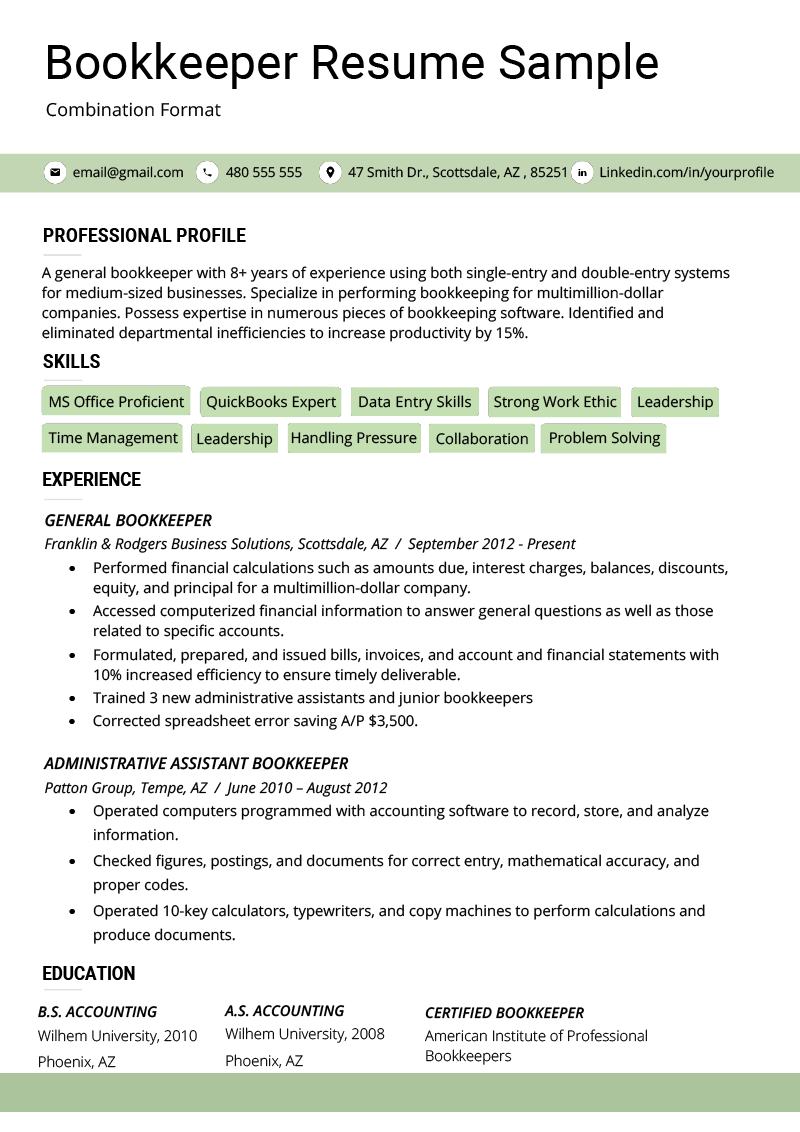 The Combination Resume Examples Templates amp Writing