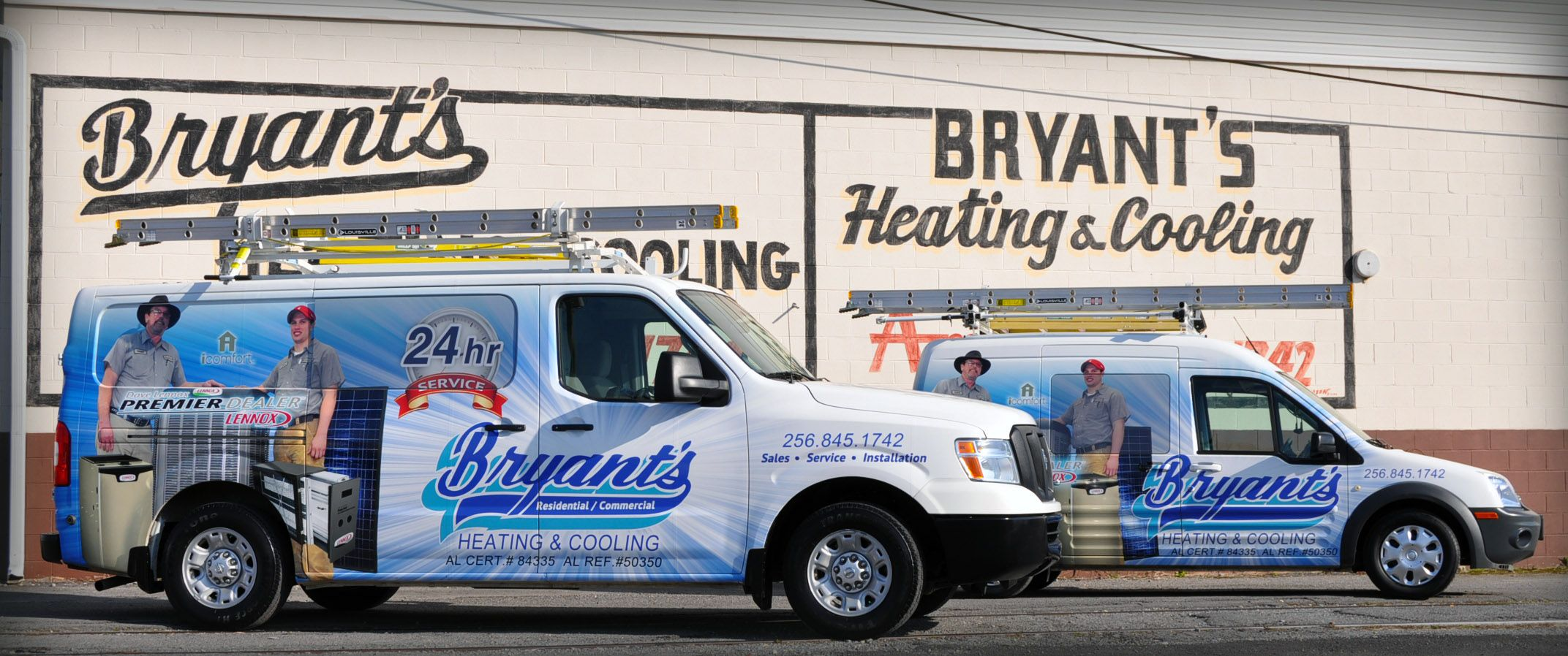 2 Of Bryant S Service Trucks With Images Fleet Heating And