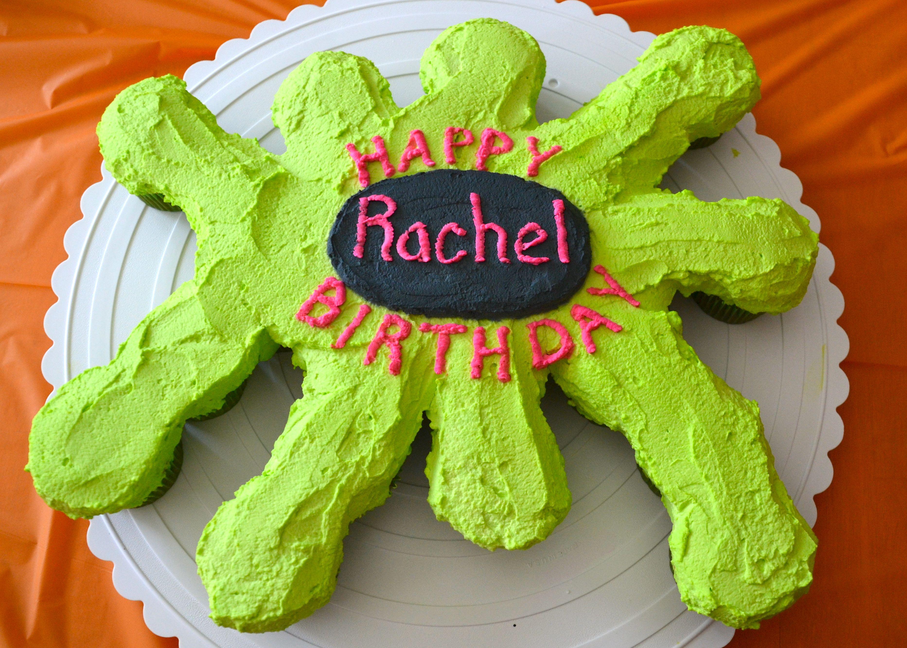 Slime Party Birthday Cake
