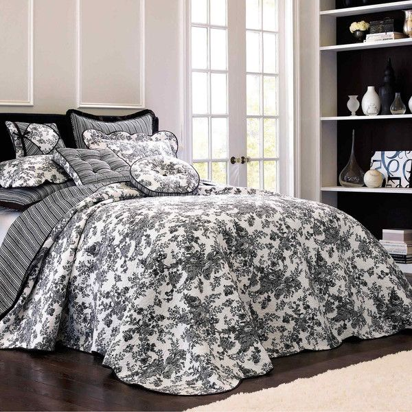 Toile Garden Bedspread 100 Liked On Polyvore Featuring