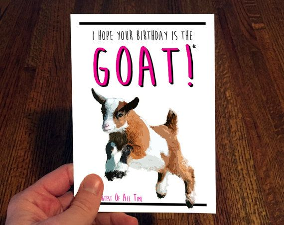 Baby goat birthday card funny birthday card i love goats baby goat birthday card funny birthday card i love goats bookmarktalkfo Image collections