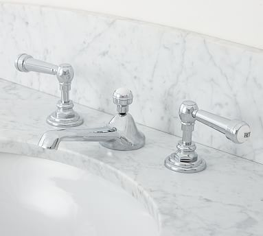 Reyes Lever-Handle Widespread Bathroom Faucet, Chrome Finish | *Bath ...