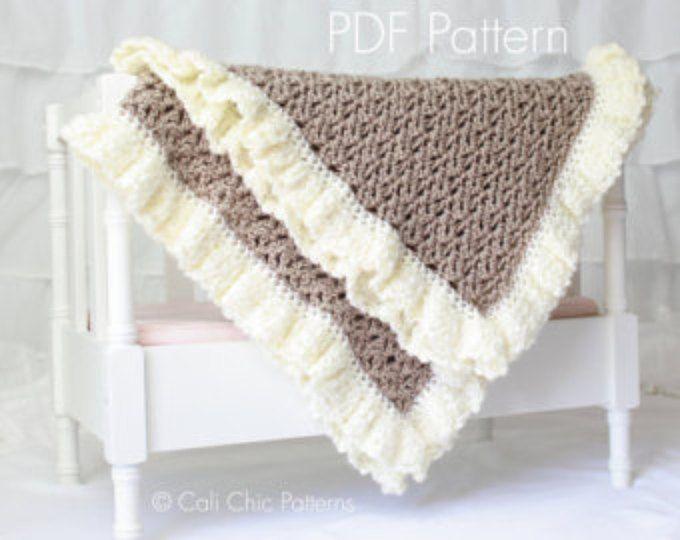 Crochet PATTERN 91 - Chocolate Dream Baby Blanket Pattern - Brown ...