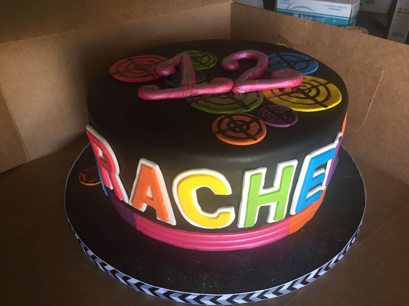 Birthday Cake With Name Tag ~ Laser tag cake name in neon colors sue s sweet creations