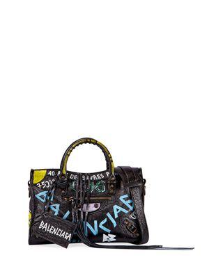 Balenciaga Classic City AJ Small Graffiti Satchel Bag   Products ... d7d3bd22b7