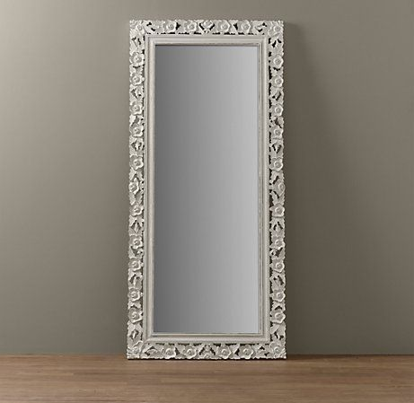 vintage hand-carved full length mirror from restoration hardware ...
