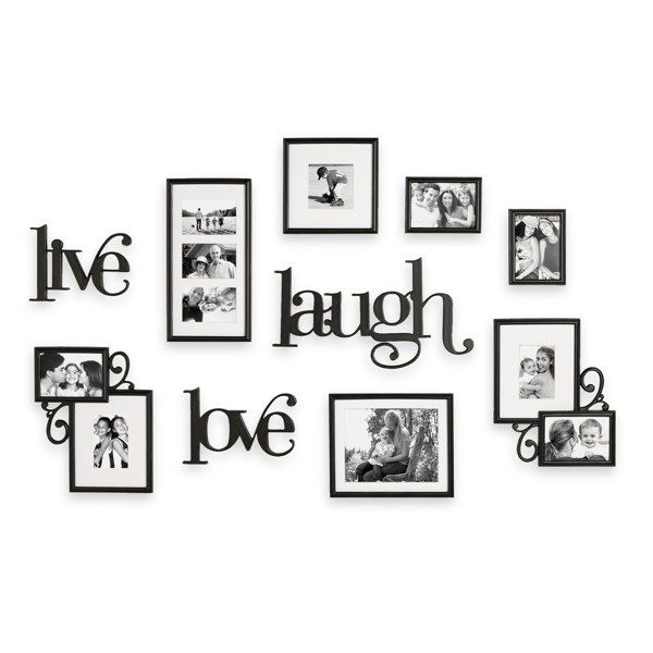 Bed Bath and Beyond - Wall Verbs 10-Piece Live Laugh Love Wall ...