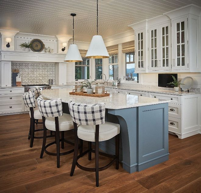 Best Blue Grey Kitchen Island Gorgeous Lakehouse Kitchen With 640 x 480
