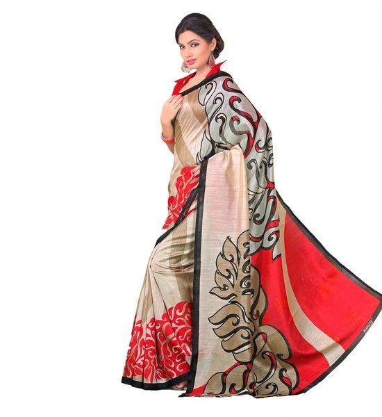 Miraan Art Silk Printed Saree SDE15190