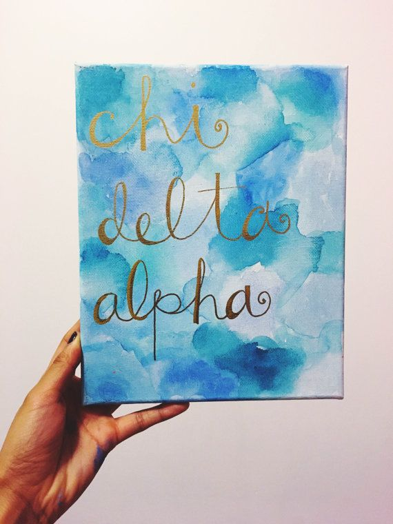 Painted Watercolor Canvas Sorority By Acmadesimply On Etsy