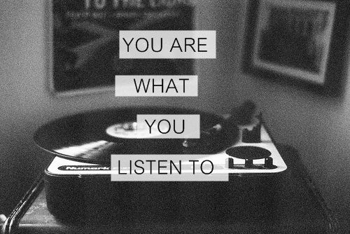 Challenge yourself to listen to meaningful music. You never know where inspiration will come from.