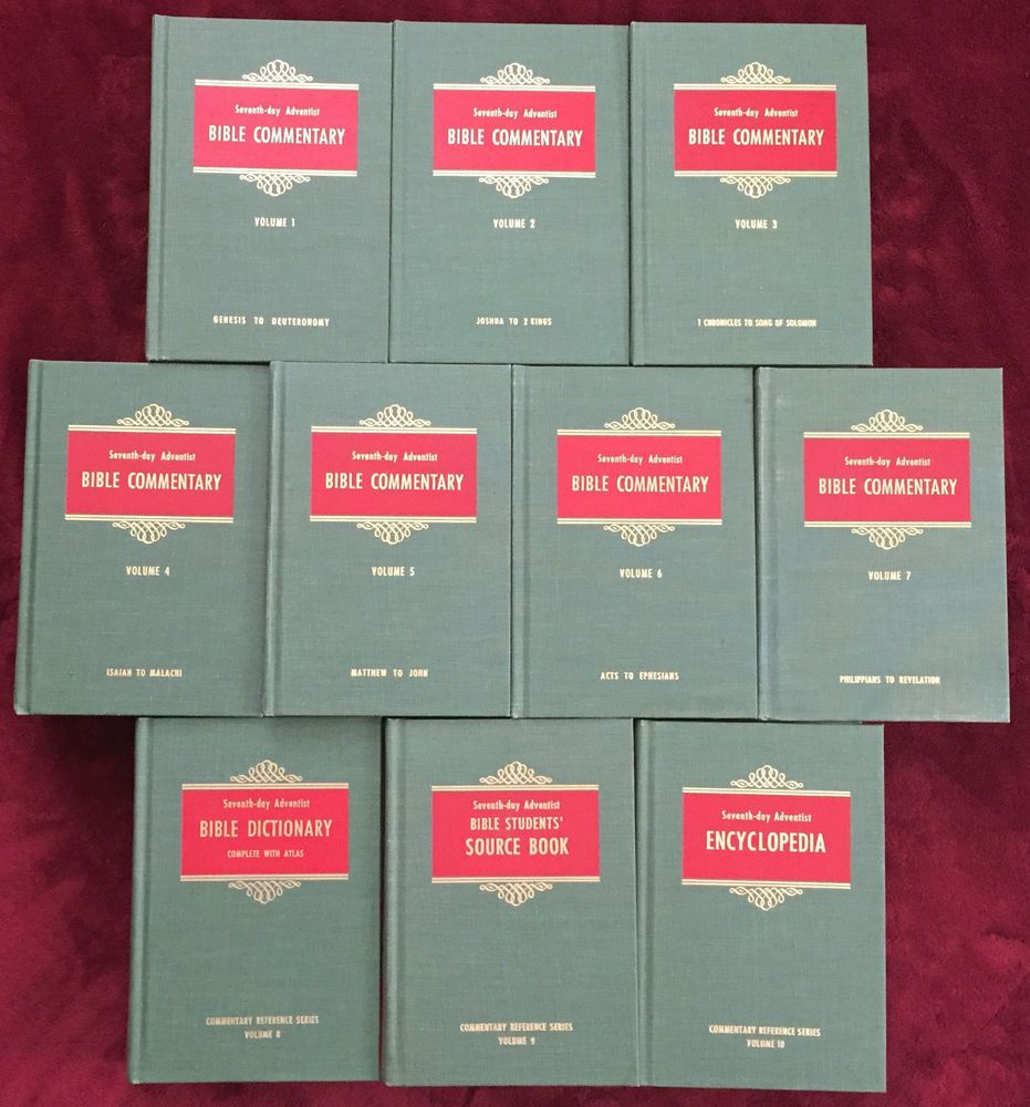 Seventh day adventist sda bible commentary set volumes 1 10 ten hardcover books